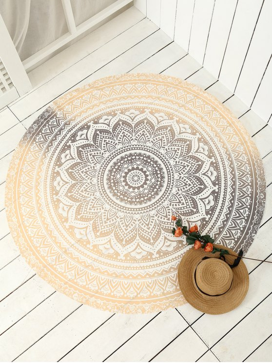 womens Printed Circle Beach Throw - GOLDEN ONE SIZE