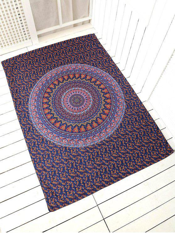 Couverture de plage carrée imprimée - Bleu Violet TAILLE MOYENNE
