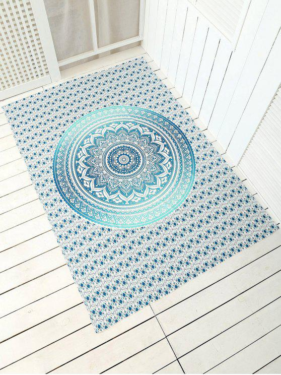 Plage jet serviette de tapis cape rectangle - Vert Taille Unique