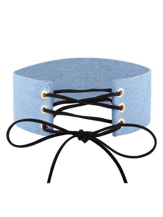 verstellbare bowknot denim choker halskette 01 halskette zaful. Black Bedroom Furniture Sets. Home Design Ideas