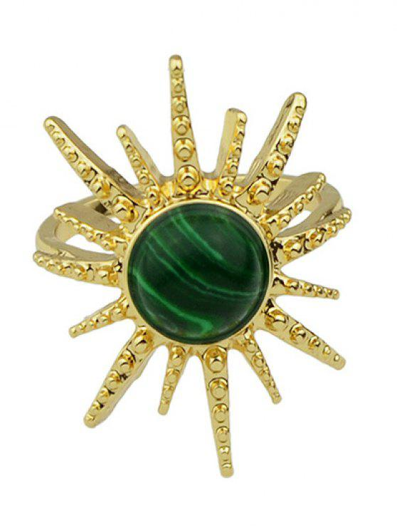 online Faux Gemstone Sun Ring - GREEN ONE-SIZE
