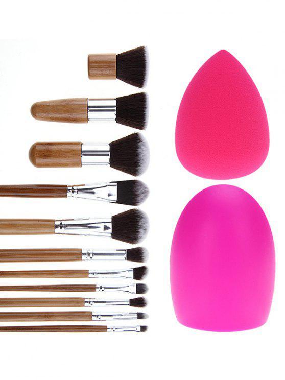 Pinceles de maquillaje cepillo conjunto de huevo y belleza Blender - Plata