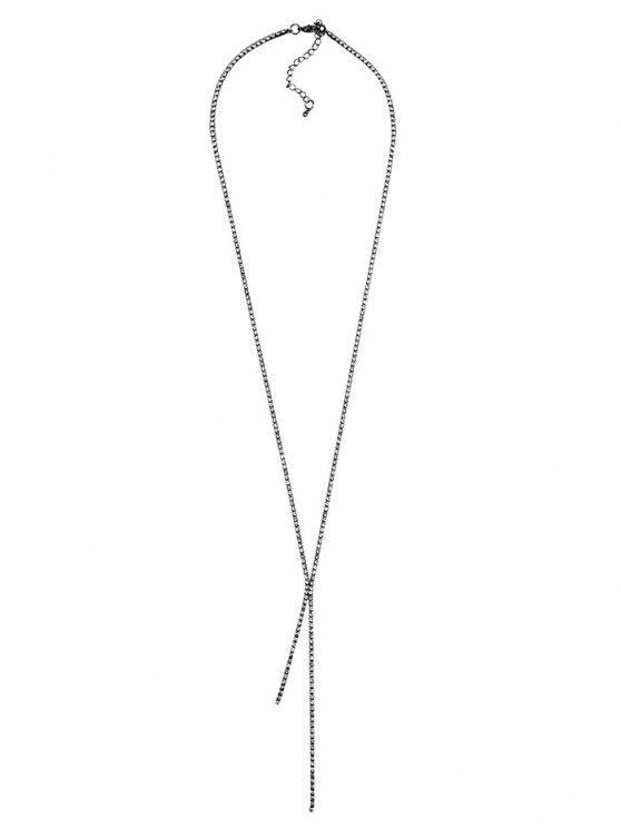 Colar Pingente rhinestoned - Metal de Injetor