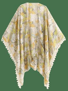 Bohemian Printed Tassel Kimono - Floral L