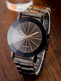 Conical Surface Quartz Watch - Gun Metal