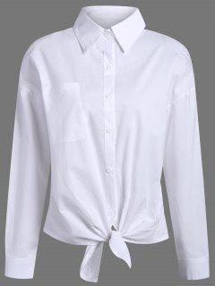 Pocket Tie Knot Shirt - White S