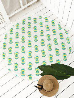 Pineapple Print Tassel Beach Throw - Neon Green