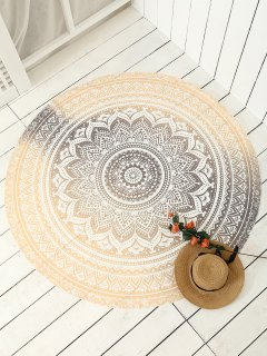 Printed Circle Beach Throw - Golden