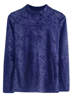 Velour T-shirt - Bleu S