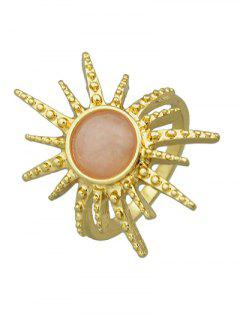 Faux Gemstone Sun Ring - Pink One-size