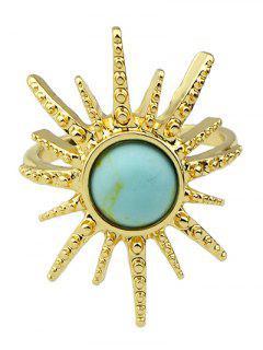 Faux Gemstone Sun Ring - Light Blue One-size
