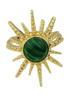Faux Gemstone Sun Ring - Green One-size