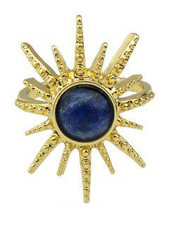 Faux Gemstone Sun Ring - Deep Blue One-size
