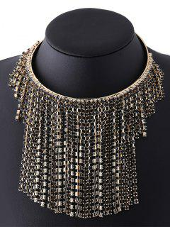 Collar De La Borla Rhinestoned - Champán