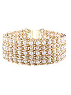 Collier En Perles Fausses Multicouche - Blanc