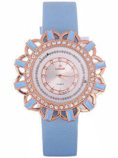 Reloj De Cuarzo Patrón Flores Cuero De Imitación  - Azur
