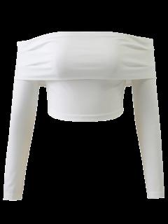 Veste Avec épaule à Manches Longues  - Blanc S