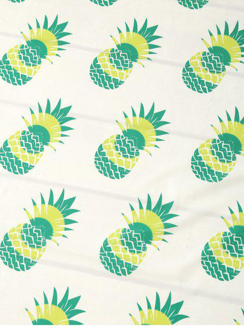 outfits Pineapple Print Tassel Beach Throw - NEON GREEN ONE SIZE Mobile