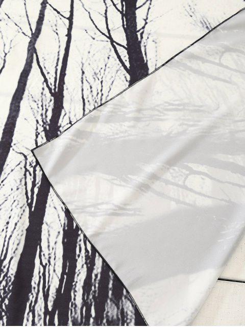 trendy Rectangle Print Beach Throw - WHITE ONE SIZE Mobile