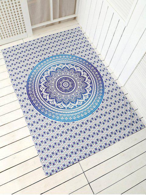 Plage jet serviette de tapis cape rectangle - Bleu TAILLE MOYENNE Mobile