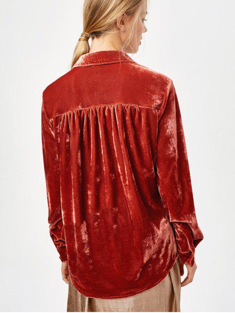 new Cosy Long Sleeve Velour Shirt - JACINTH M Mobile