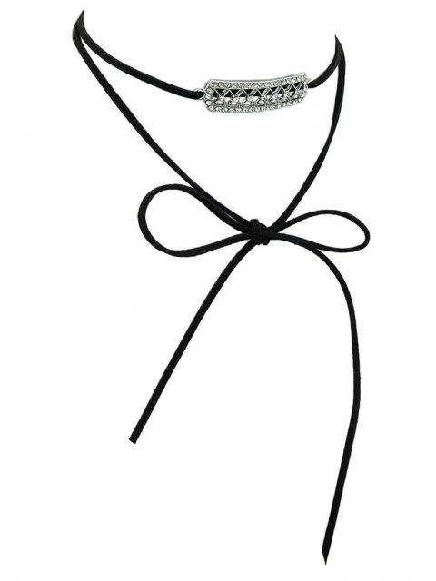 unique Rhinestone Layered Wrap Choker - BLACK  Mobile
