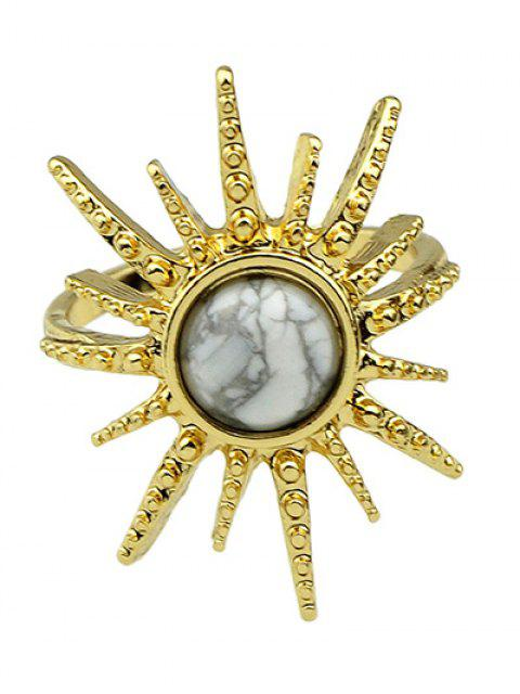 women's Faux Gemstone Sun Ring - WHITE ONE-SIZE Mobile