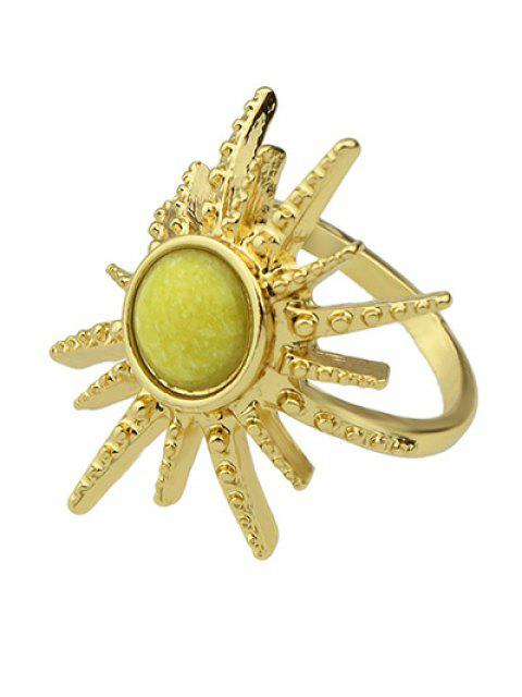 ladies Faux Gemstone Sun Ring - YELLOW ONE-SIZE Mobile