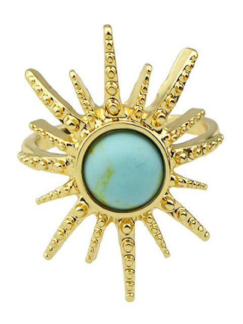 best Faux Gemstone Sun Ring - LIGHT BLUE ONE-SIZE Mobile