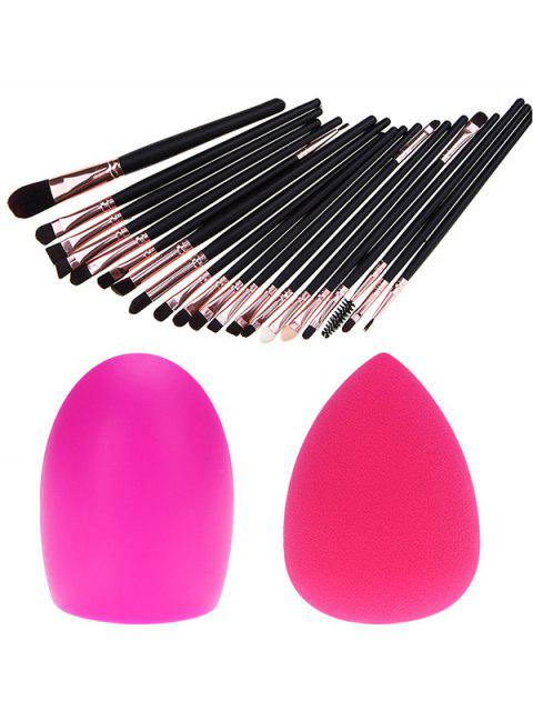 women 20 Pcs Eye Makeup Brushes + Makeup Sponge + Brush Egg -   Mobile