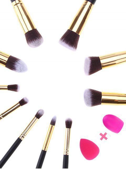 women's Makeup Brushes Set + Brush Egg + Makeup Sponge -   Mobile