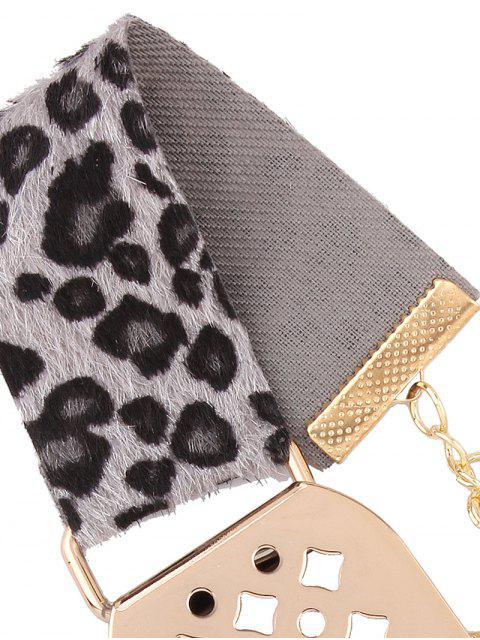 affordable Hollowed Geometry Leopard Velvet Choker - GRAY  Mobile