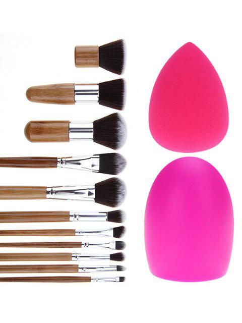ladies Makeup Brushes Set Brush Egg and Makeup Sponge -   Mobile