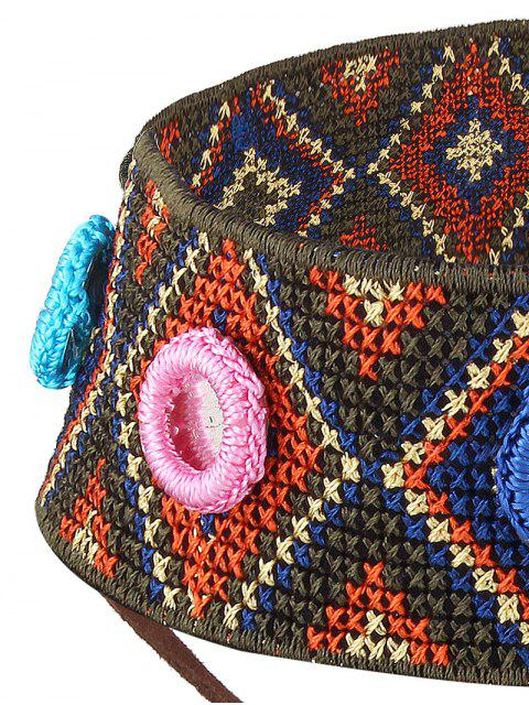 women's Crochet Rhombus Leaf Choker Necklace - BROWN  Mobile
