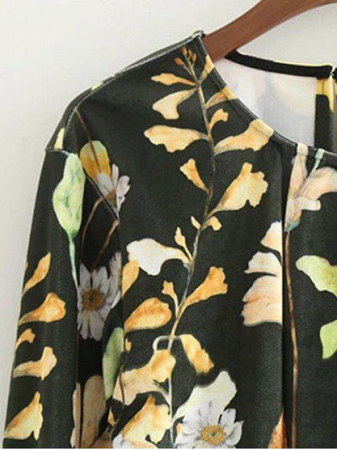 Floral Print Velvet Bodysut - Floral M Mobile