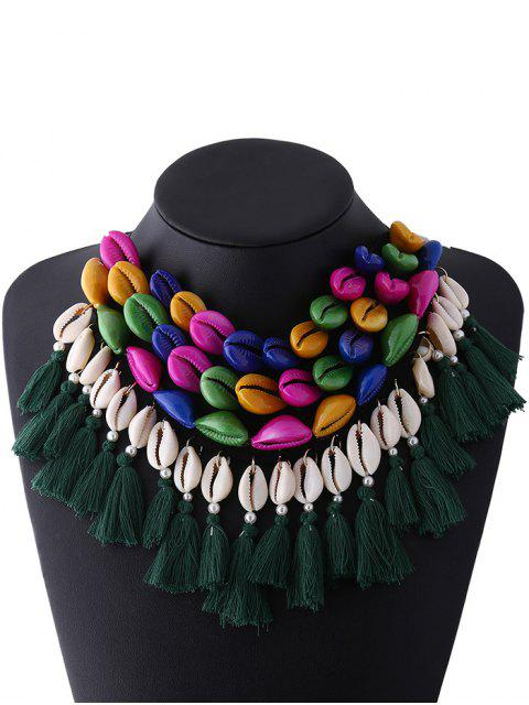 hot Ribbon Shell Tassel Necklace - COLORFUL  Mobile