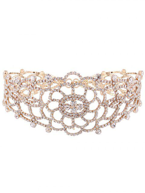 sale Hollow Out Rhinestoned Choker - CHAMPAGNE  Mobile