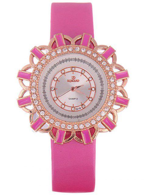 fashion Faux Leather Flower Quartz Watch - TUTTI FRUTTI  Mobile