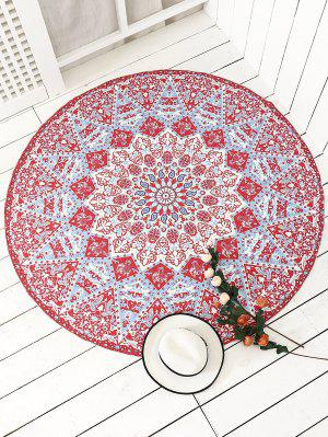 Indian Printed Mandala Beach Throw - Red