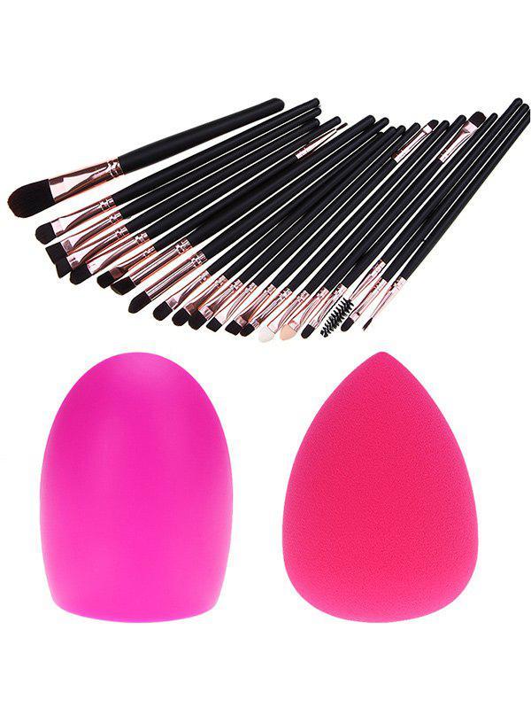 20 Pcs Eye Makeup Brushes Set + Makeup Sponge + Brush Egg