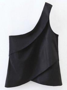 Layered One Shoulder Top - Black S