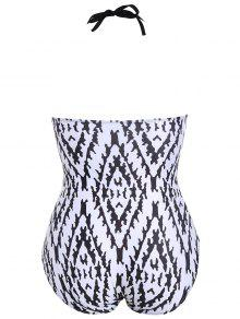 bc05442f093 2018 Argyle Fringe Plus Size Swimwear One Piece In MULTICOLOR XL