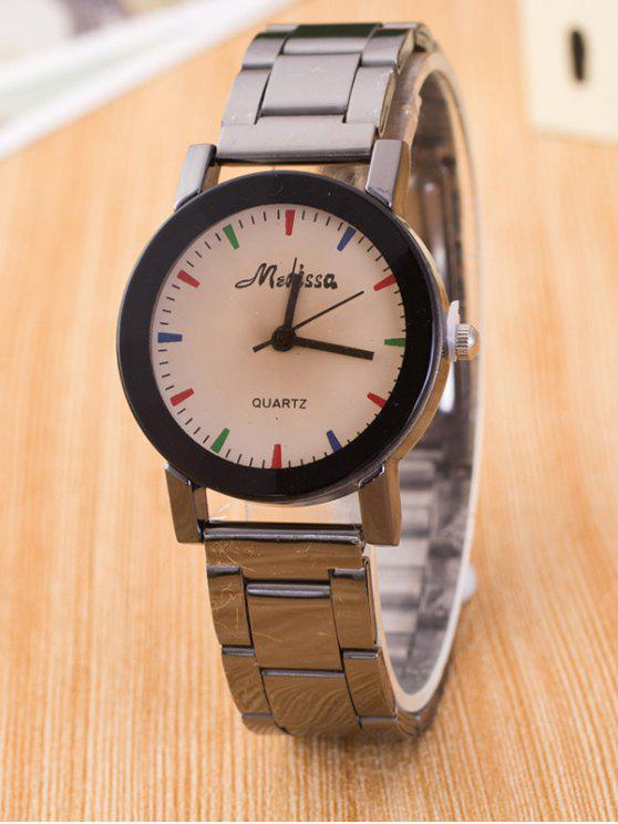 women Alloy Analog Quartz Watch - GUN METAL