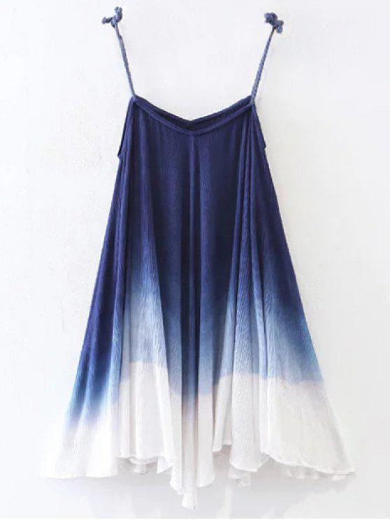 Vestido de Resbalón ombre Trapecio - Azul Purpúreo S