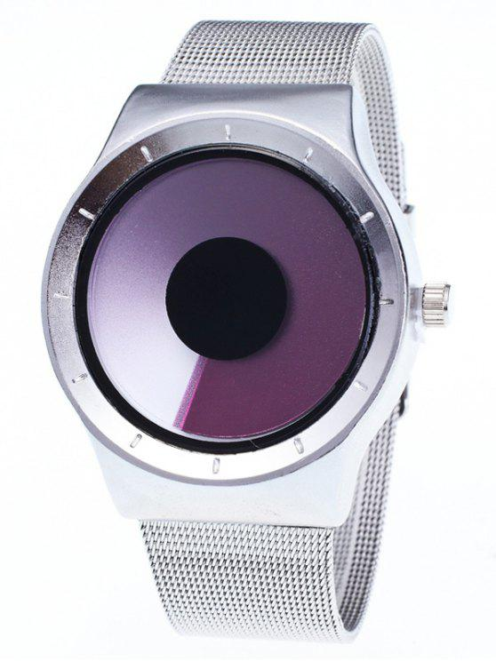 fancy Metal Mesh Ombre Quartz Watch - PURPLE