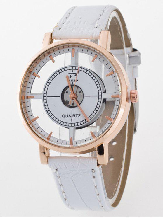 lady See-Through Quartz Watch - WHITE