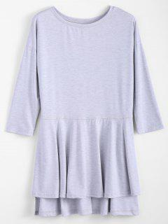 Slit Asymmetric T Shirt - Gray S