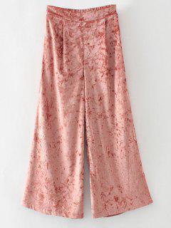 Terciopelo Suelta Pantalones De Pierna Ancha - Naranja Rosa M