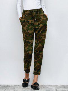 Pantalon Camo Drawstring - Vert Armée S