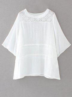 Bata Panel Mini Vestido De Encaje - Blanco S